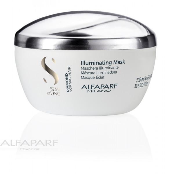 Маска для нормальных волос блеск Alfaparf Semi Di Lino Diamond Illuminating Mask 200 мл 16449