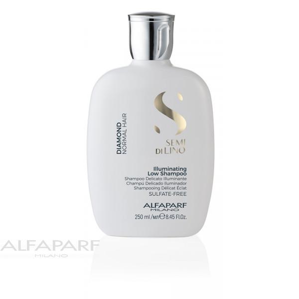 Шампунь для нормальных волос блеск Alfaparf Semi Di Lino Diamond Illuminating Low Shampoo 250 мл 16445 / 9992